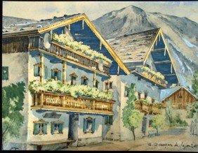 Andre Dunoyer De Segonzac Original Watercolor Painting