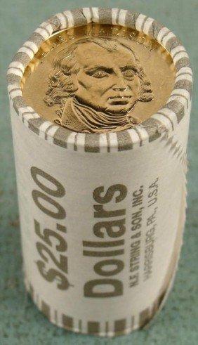 1 Bank Roll 2007-P UNC Madison Presidential Dollars