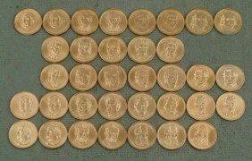 35 Coin Presidential Dollar Set UNC 2007-2011