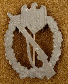 NAZI WEHRMACHT INFANTRY ASSAULT AWARD BADGE ORIGINAL