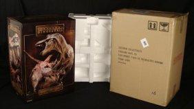 Sideshow T-Rex Vs Triceratops Ltd Ed Bronze Diorama MIB