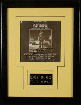 Robert De Niro Signed Print Taxi Driver Framed