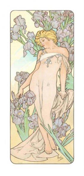Alphonse Mucha : Iris, Flower Series, 1898 Art Print