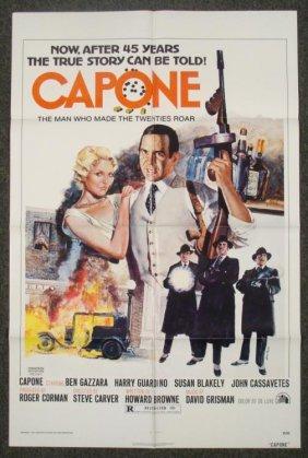 Capone Original 1 Sheet Mobster Movie Poster 1974