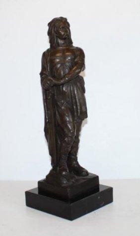 Stunning Bronze Sculpture Vercingetorix French Warrior