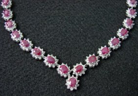 GT0005 Ruby And Diamond Necklace