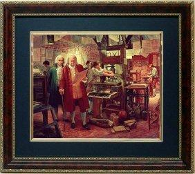 Mort Kustler Framed Art Print Benjamin Franklin