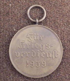 NAZI WAR MERIT MEDAL-ORIG-MALTESE CROSS W/SWASTIKA 1939