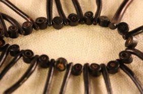 Vintage Black Branch Coral Necklace MWF1757