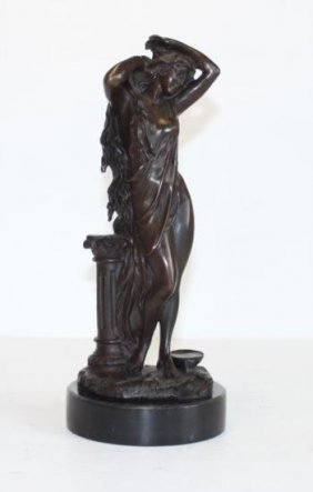 Alluring Bronze Sculpture Single Standing Goddess