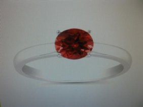 Genuine 1.06 Carat Ruby 14 K White Gold Ring