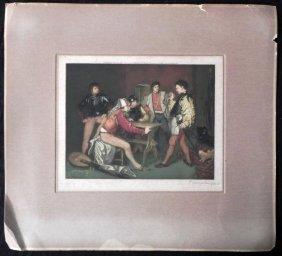 P. Hampden Hart Antique Art Print Signed 1925