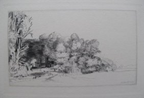 Rembrandt CLUMP OF TREES WITH A VISTA Etching