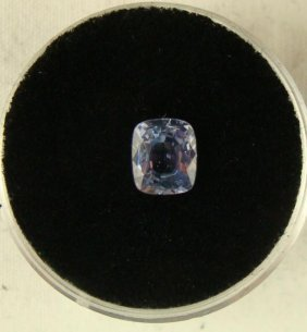1.23 CT TANZANITE VIOLET CUSHION GEMSTONE