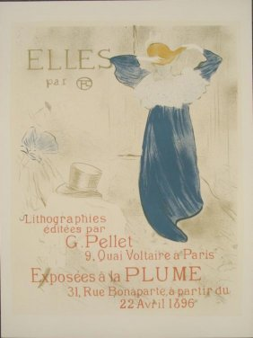 Henri De Toulouse-Lautrec : Elles Lesbian Art Print