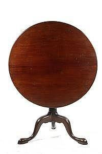 TABLE - Second Half 18th C. Cuban Mahogany Tip-top Tea