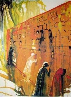 Salvador Dali Interpretation Art Print Wailing Wall