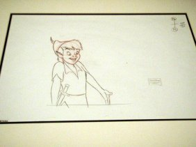 Disney Original Drawing Return To Never Land Peter Pan