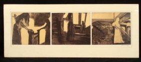 Diamond Falk Unusual 3 Panel Etching Art Print