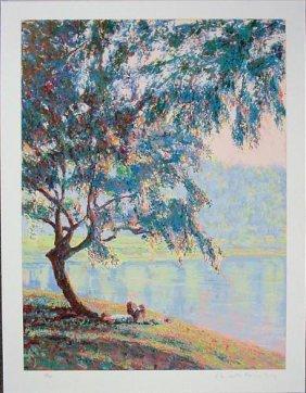 Bill Bagley DAYDREAMER Impressionistic Signed Art Print