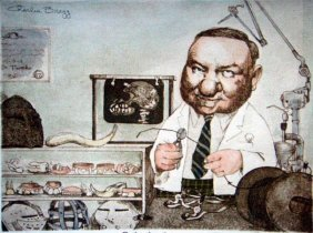 Charles Bragg Signed Medical Art Print Orthodontist