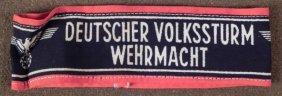 """NAZI """"DEUTSCHER VOLKSSTURM WEHRMACHT ORIGINAL ARMBAND"""