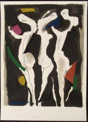 Marino Marini Art Print Three Graces