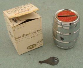 Telegraph Savings Chicago Vint Banthrico Coin Bank MIB