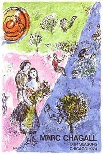 Marc Chagall Art Poster Four Seasons Last Original 1974