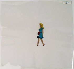 Animation Cel Beautiful Day Original Blonde Girl Art