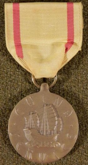 U.S. WWII NAVY CHINA SERVICE MEDAL WITH RIBBON