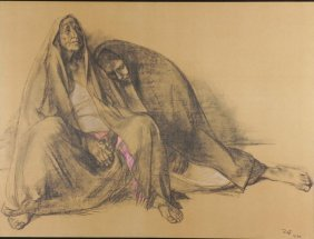 Francisco Zuniga Mom And Daughter Art Print 1974