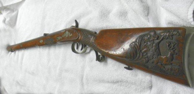 Outstanding German Schuetzen Jaeger Rifle Carved Lot 790093