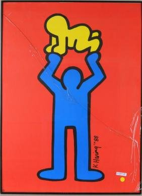 Keith Haring, Framed Poster