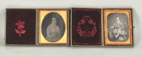 Two Vintage Cased Daguerreotypes