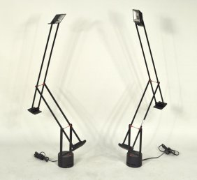 "Two Tizio ""Plus"" Modern Table Lamps"