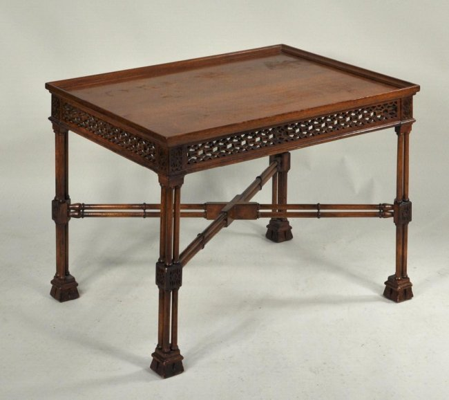485 Chippendale Style Carved Mahogany Coffee Table Lot 485