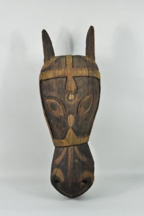 Indian Carved & Painted Horse Head