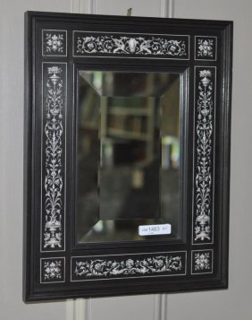 Continental Inlaid Mirror, Beveled Glass