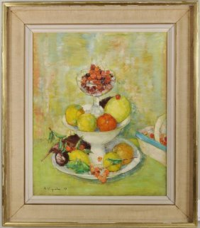 """Andre Vignoles """"Fruit Still Life"""" O/C"""