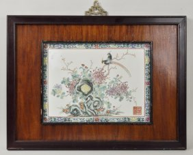 Chinese Porcelain Famille Rose Plaque