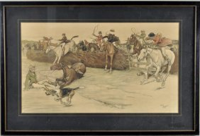 """Cecil Alden """"hunting"""" Lithograph, Signed"""