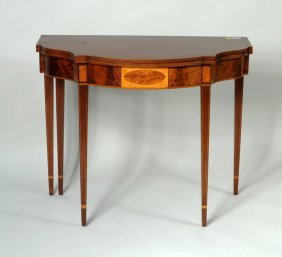 Hepplewhite Style Mahogany Foldover Card Table