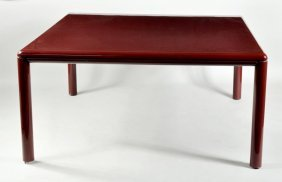 Gae Aulenti For Knoll, Enameled Steel Dining Table
