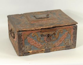 Continental Carved & Painted Bible Box