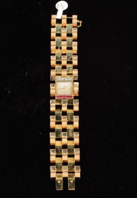 Ladies 14K Retro Watex Watch