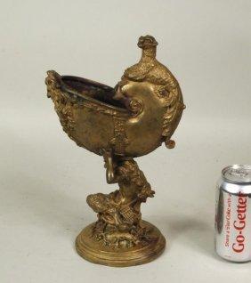 """Emile Pinedo """"Satyr & Nautilus"""" Bronze Sculpture"""