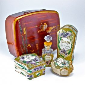 1905 Piver Floramye Gift Set In Lacquer Box