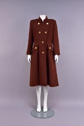 GIVENCHY PARIS DOUBLE BREASTED WOOL COAT