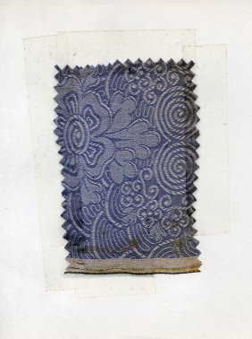 LOT Of CARDED FABRIC SAMPLES, 1850-1919. Woven Silk